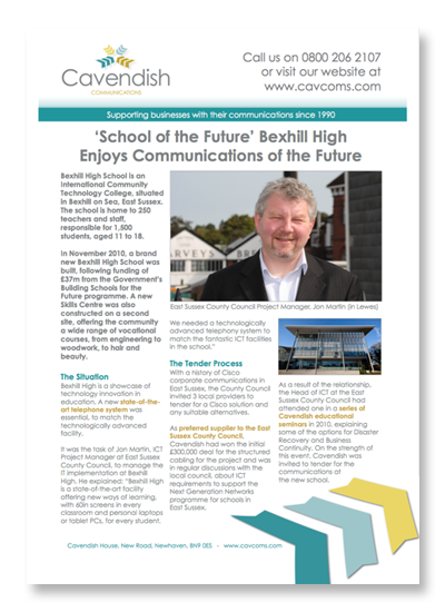 Bexhill High Telephony Case Study
