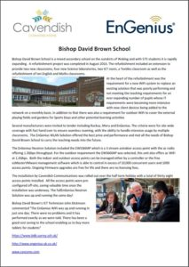 Business Wifi for Bishop David Brown School-Cavendish