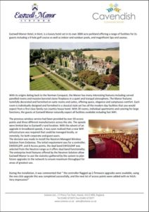 Business Wifi for Eastwell Manor Hotel