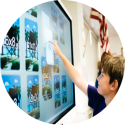 Audio-Visual touch screen technology