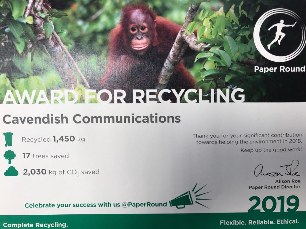 Award for Recycling